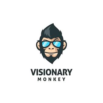 Plantilla de vector de mascota de mono