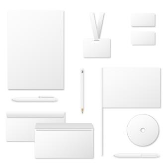 Plantilla de vector de materiales de impresión para identidad corporativa