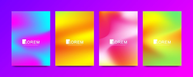 Plantilla de vector moderno para catálogo de banner de portada de folleto folleto folleto en tamaño a4. conjunto de fondos de colores líquidos de moda de vector de forma 3d fluido abstracto. textura geométrica con puntos y líneas conectadas.
