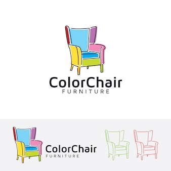 Plantilla de vector de muebles de la silla