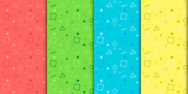 Plantilla de vector de patrón transparente colorido mínimo moderno