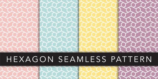 Plantilla de vector de patrones sin fisuras geométricas hexagonales
