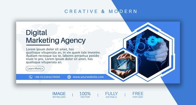 Plantilla de vector de portada de redes sociales y banner web