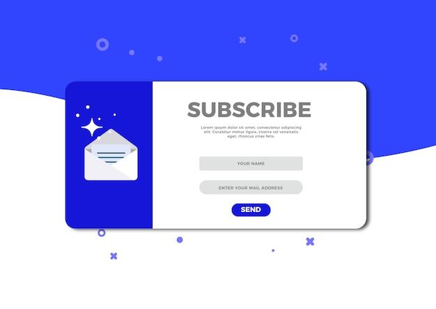 Plantilla de vector para suscribirse por correo electrónico