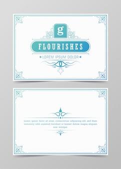 Plantilla de vector de tarjeta de felicitación de adorno vintage moderno, invitación de boda retro, publicidad u otro diseño y lugar para texto, florece marco ornamental y fondo de patrón.