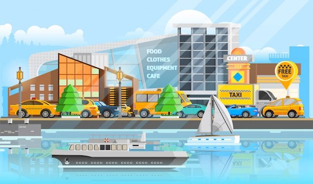 Plantilla de vehículos de taxi