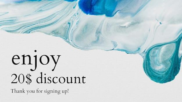 Plantilla de venta de arte fluido para banner de blog de moda