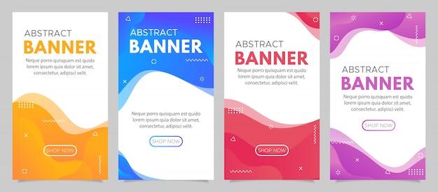 Plantilla de venta de banner abstracto