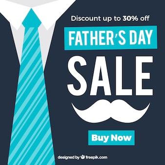 Plantilla de venta del día del padre en estilo plano
