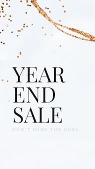 Plantilla de venta de fin de año