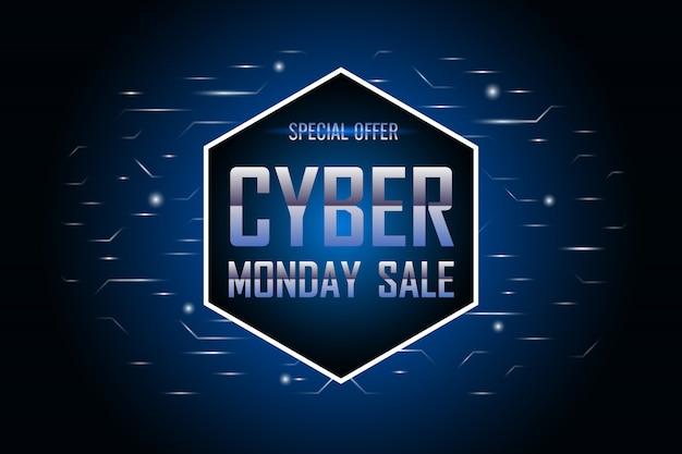 Plantilla de venta de lunes cibernético.