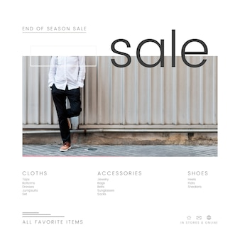 Plantilla de venta de moda