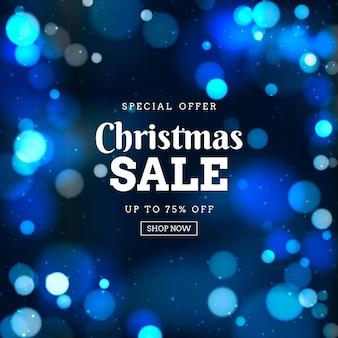 Plantilla de venta de navidad borrosa