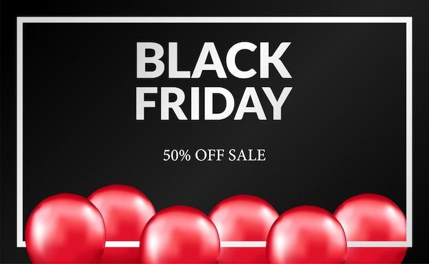 Plantilla de venta de viernes negro para banner, etiqueta, cupón.