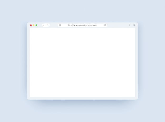Plantilla de ventana del navegador en modo ligero para sitio web, computadora portátil y computadora.