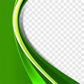 Plantilla verde de fondo ondulado