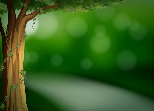 Una plantilla verde natural