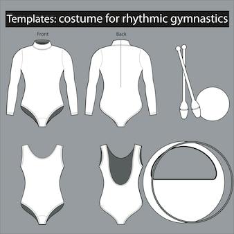 Plantilla de vestuario para gimnasia rítmica.