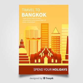 Plantilla de viaje a bangkok