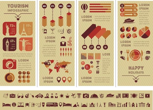 Plantilla de viaje infografía.