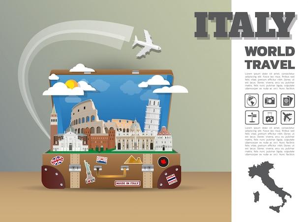 Plantilla de viaje a italia