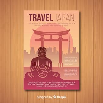 Plantilla de viaje a japón