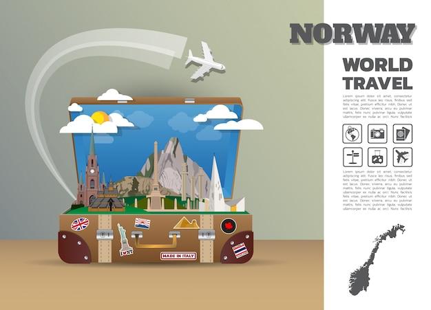 Plantilla de viaje de noruega