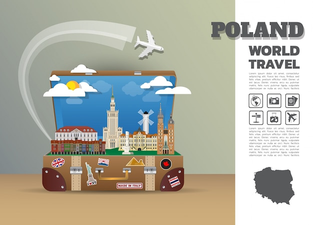 Plantilla de viaje de polonia