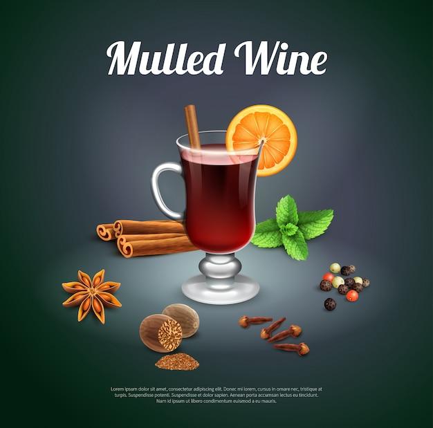Plantilla de vino caliente