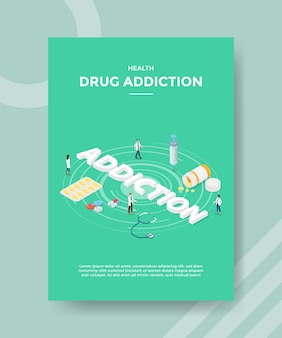 Plantilla de volante de adicción a las drogas de salud