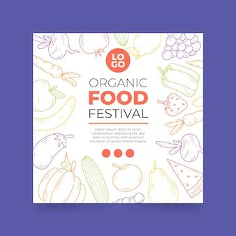 Plantilla de volante de alimentos orgánicos