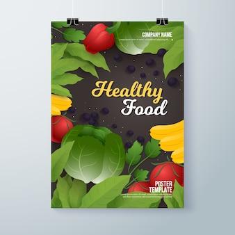 Plantilla de volante de alimentos saludables