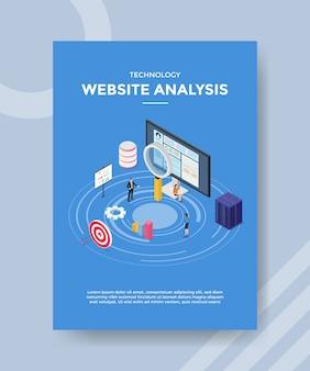 Plantilla de volante de análisis de sitios web de tecnología