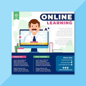 Plantilla de volante de aprendizaje en línea