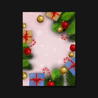 Plantilla de volante en blanco de navidad
