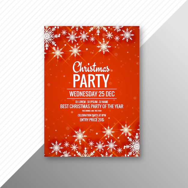 Plantilla de volante de cartel de fiesta de feliz navidad