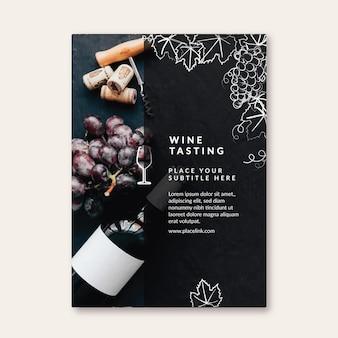 Plantilla de volante de cata de vinos