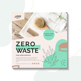 Plantilla de volante cero residuos