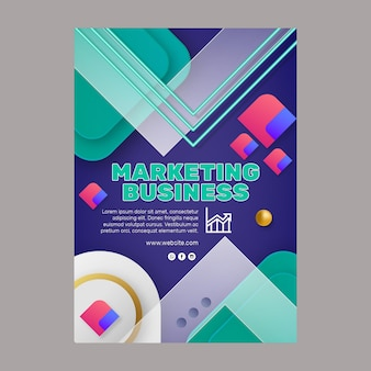 Plantilla de volante comercial de marketing