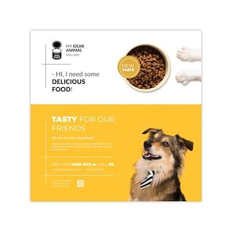 Plantilla de volante de comida para animales