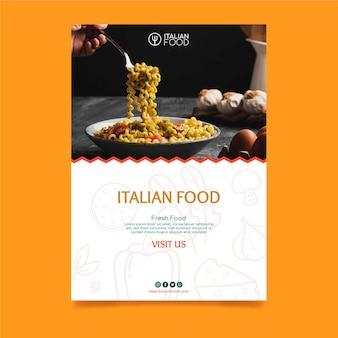 Plantilla de volante de comida italiana