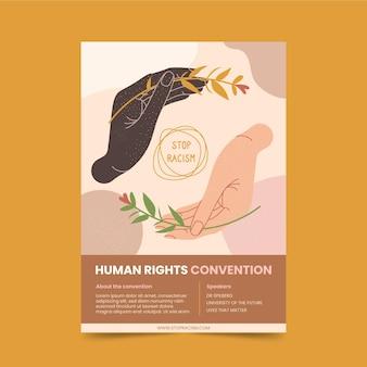 Plantilla de volante de derechos humanos