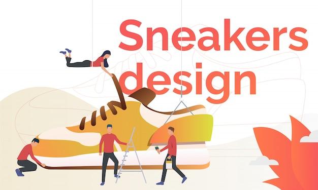 Plantilla de volante de diseño de zapatillas