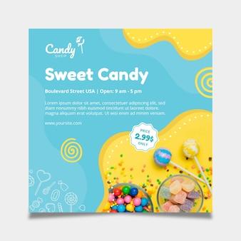 Plantilla de volante de dulces