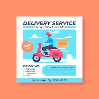 Plantilla de volante de entrega