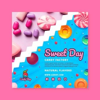 Plantilla de volante de fábrica de dulces