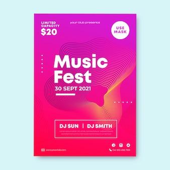 Plantilla de volante de festival de música