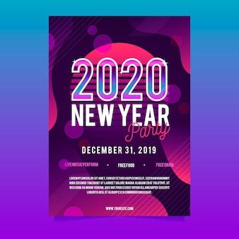 Plantilla de volante de fiesta abstracta de año nuevo