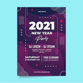 Plantilla de volante de fiesta abstracto año nuevo 2021