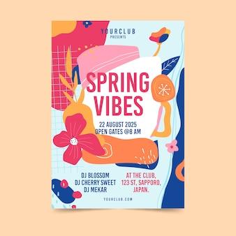 Plantilla de volante de fiesta de primavera abstracta